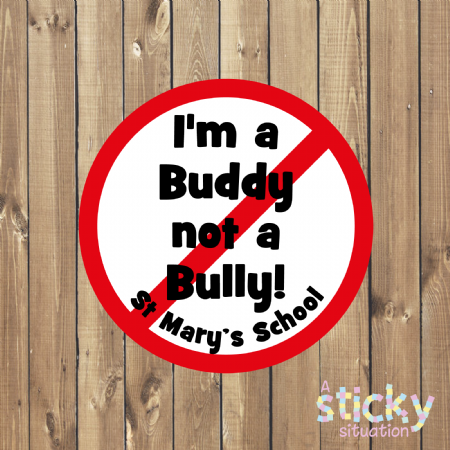 Personalised Anti Bullying Stickers